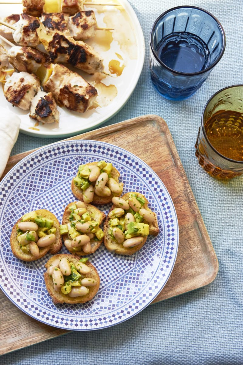Avocado And Cannellini Bean Crostini With Gremolata / Mia / Katie Workman / themom100.com