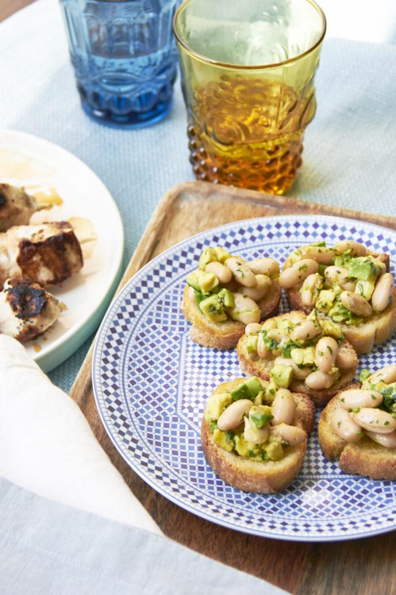Avocado And Cannellini Bean Crostini With Gremolata / Mia / Katie Workman / themom100.com