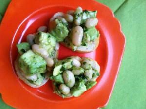 Avocado And Cannellini Bean Crostini