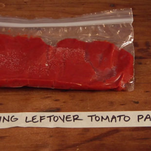 Freezing Leftover Tomato Paste