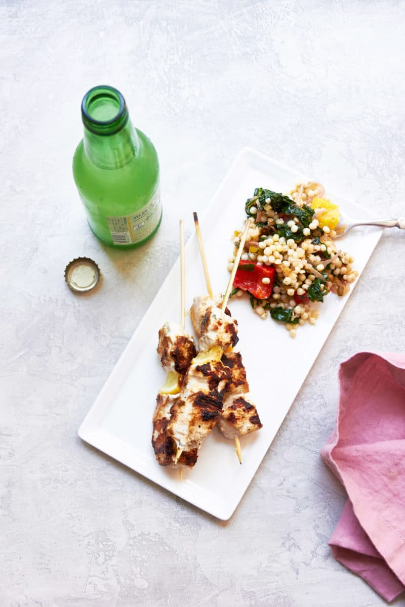 Fork-In-The-Road Marinated Chicken Kebabs / Mia / Katie Workman / themom100.com