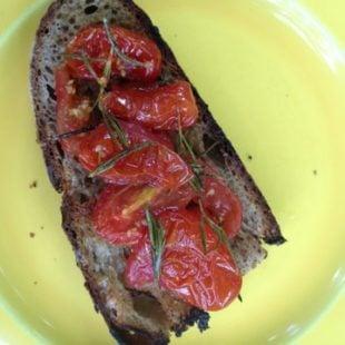 Roasted Tomato and Rosemary Bruschetta