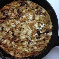 Mushroom, Caramelized Onion and Feta Frittata