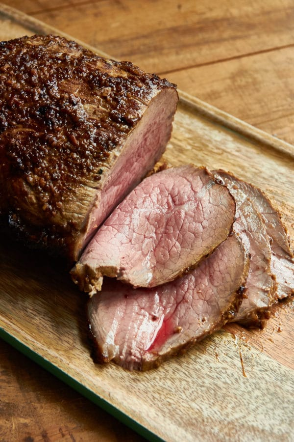 Roast Beef with Mustard Garlic Crust and Horseradish Sauce / Mia / Katie Workman / themom100.com