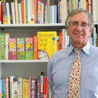 Peter Workman and Bookshelf