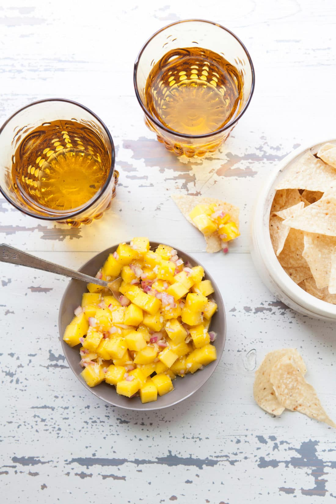 Citrusy Mango Ginger Salsa / Photo by Kerri Brewer / Katie Workman / themom100.com