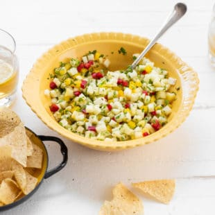 Pineapple Mint Jalapeno Salsa / Photo by Cheyenne Cohen / Katie Workman / themom100.com