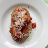 Meatball Baked Potato Sub