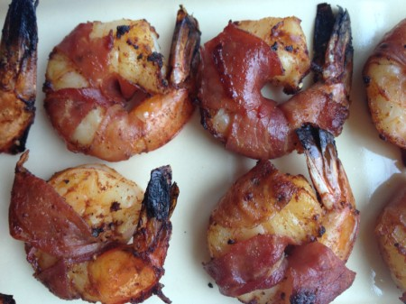 Pancetta wrapped Shrimp with Smoked Paprika