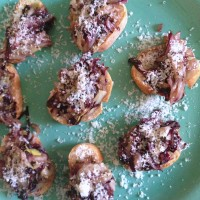 Radicchio and Endive Crostini
