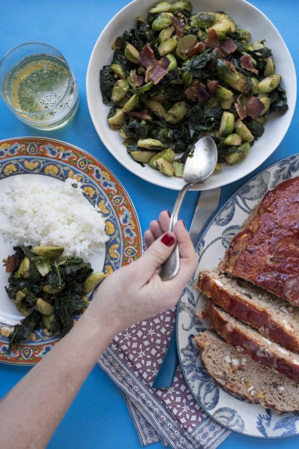 Greek Style Turkey Meatloaf / Luci Beni / Katie Workman / themom100.com