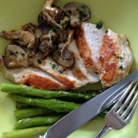 Chicken with Mushrooms in Cream Sauce