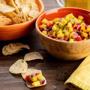 Tropical Fruit Salsa / Photo by Cheyenne Cohen / Katie Workman / themom100.com
