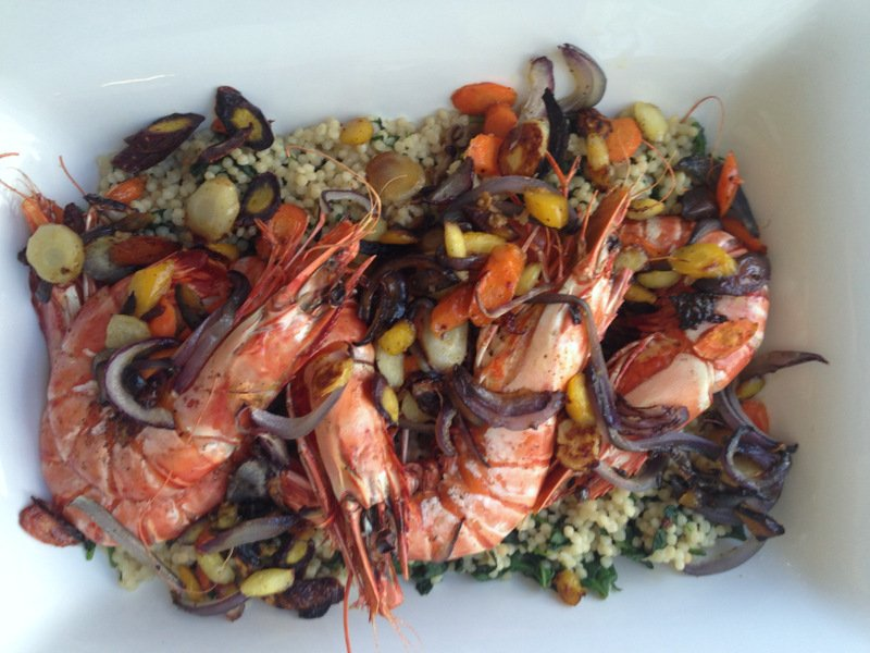 Colossal Shrimp With Israeli Couscous The Mom 100 The Mom 100