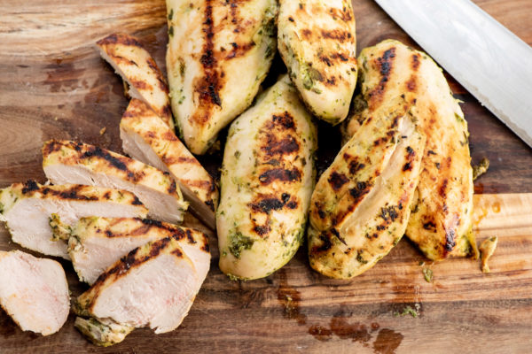 Grilled Chicken Breasts with Lime, Roasted Garlic and Fresh Herb Marinade / Photo by Cheyenne Cohen / Katie Workman / themom100.com
