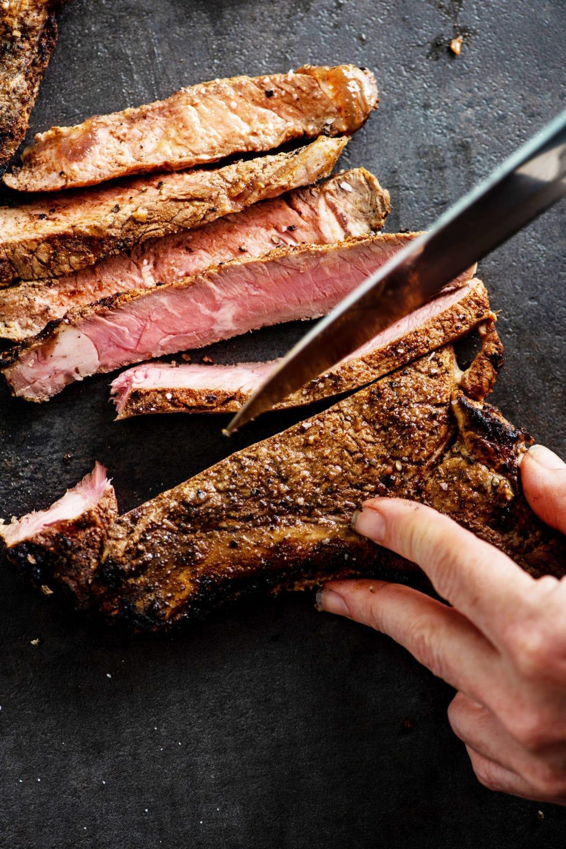 Grilled Mexican Rib-Eye Steaks / Katie Workman / themom100.com / Photo by Cheyenne Cohen