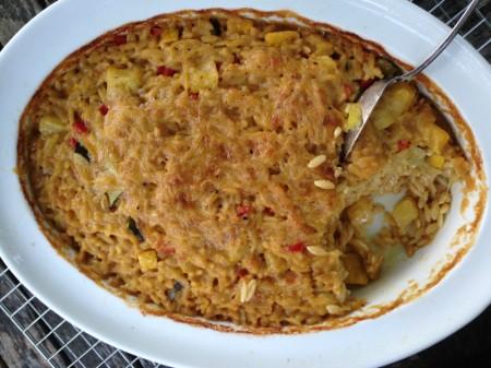 Cheesy Orzo Casserole
