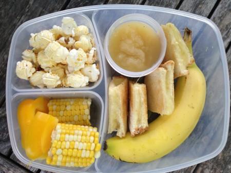 An alll yellow school lunch