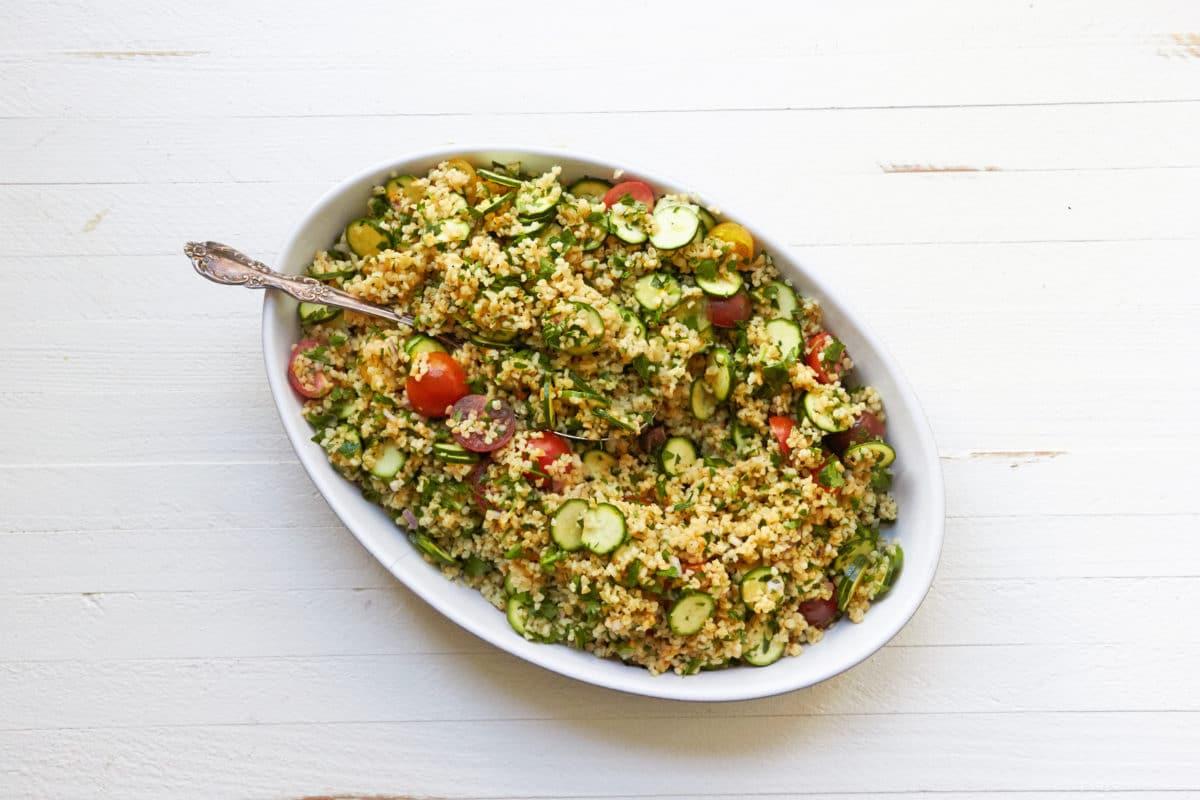 Tomato and Zucchini Grain Salad / Mia / Katie Workman / themom100.com