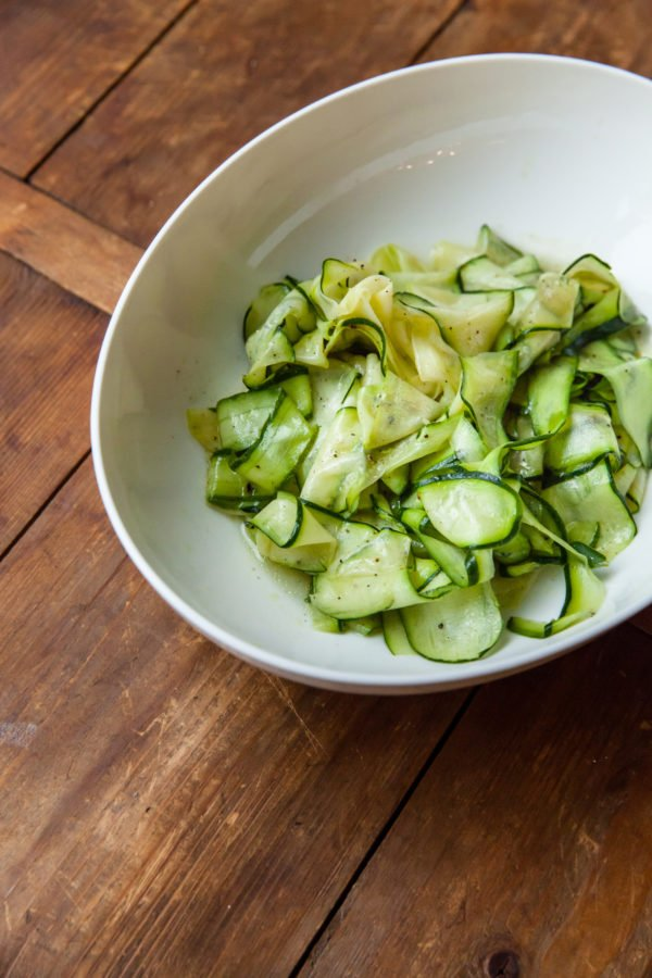 Zucchini Ribbon Salad / Carrie Crow / Katie Workman / themom100.com