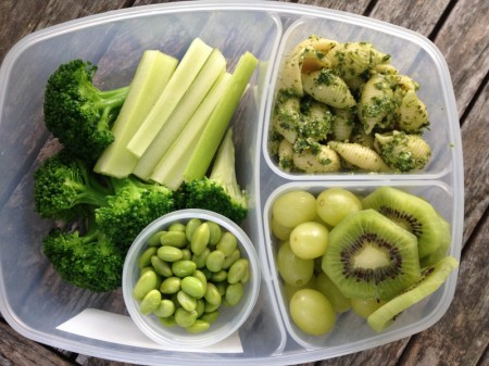 an all green school lunch