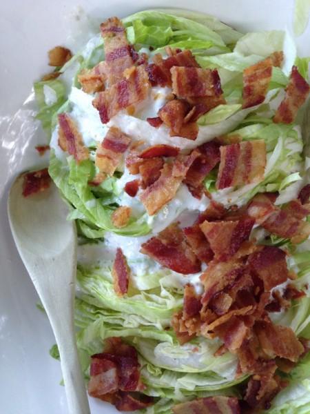 slivered wedge salad