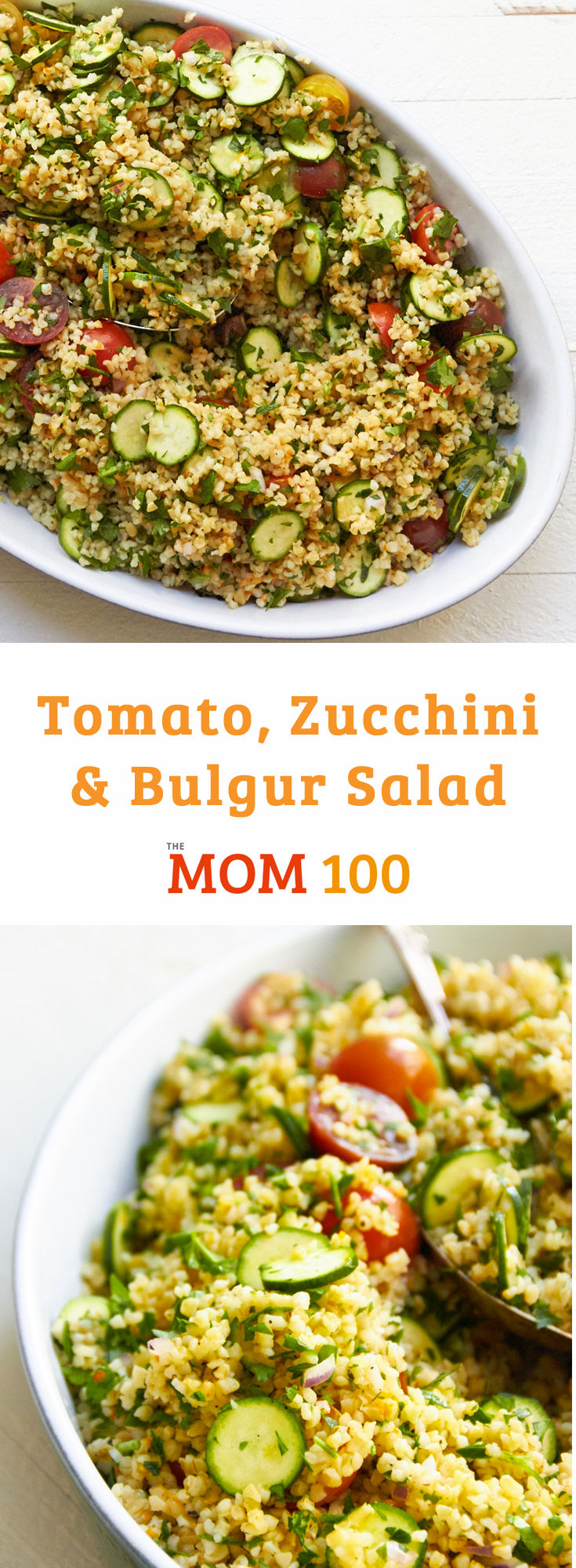This recipe makes a very generous amount of Tomato, Zucchini and Bulgur Salad, so it's a good thought for potlucks, or a healthy side dish for the whole week.