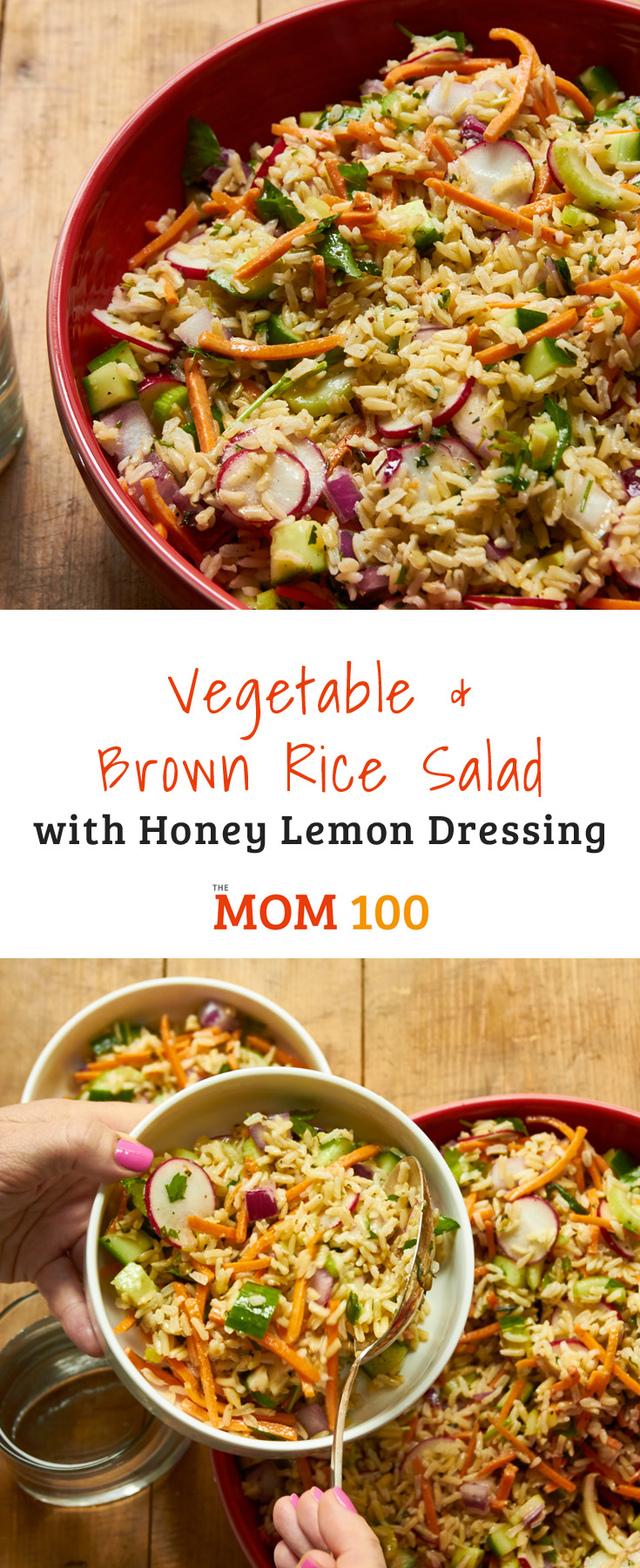 This Vegetable and Brown Rice Salad is the vegetarian side dish you're always looking for when you're hosting a crowd or going to a potluck.