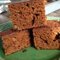 Pumpkin Gingerbread with Crystallized Ginger
