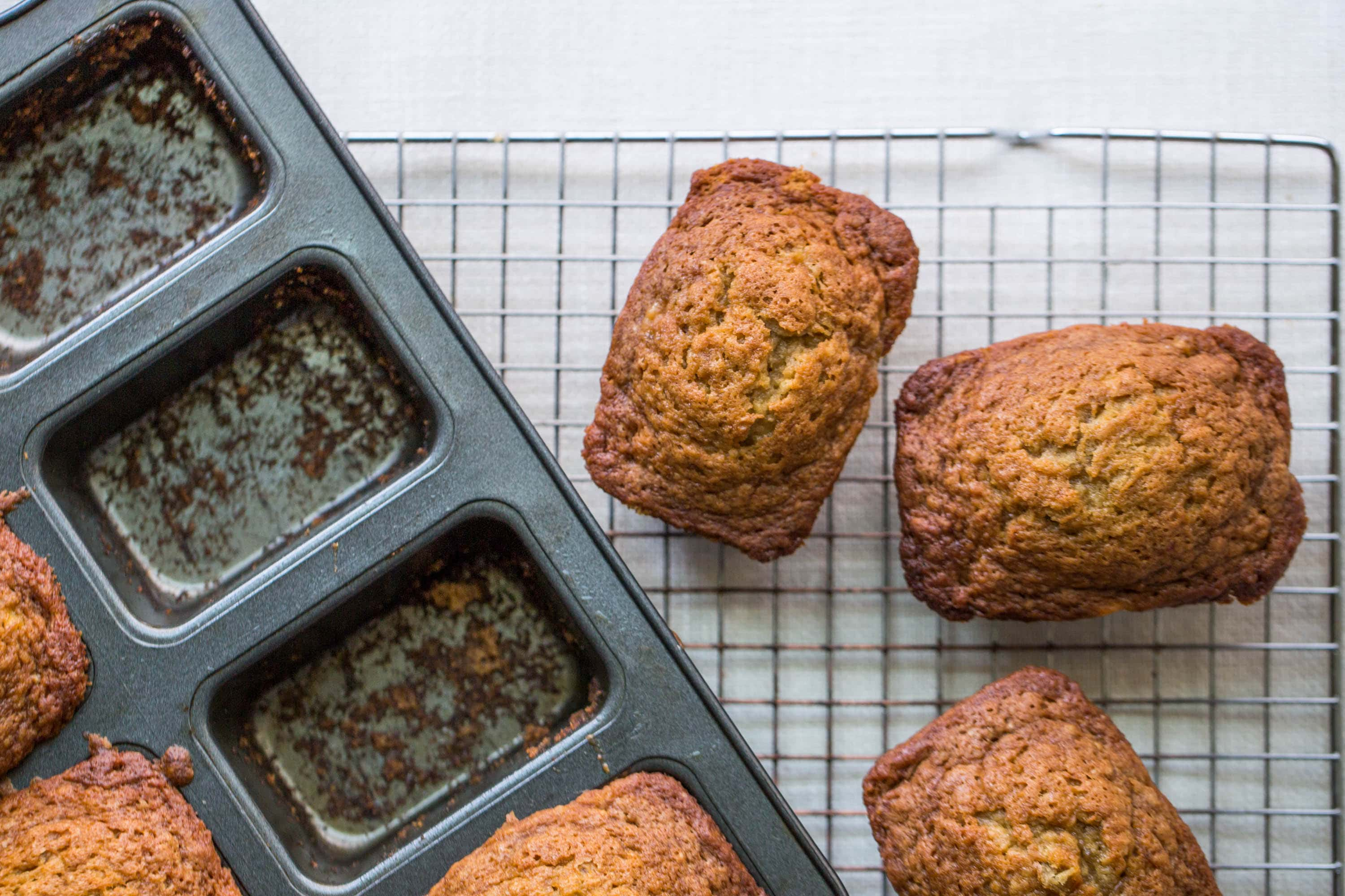 Mini Banana Bread Loaves Recipe The Mom 100