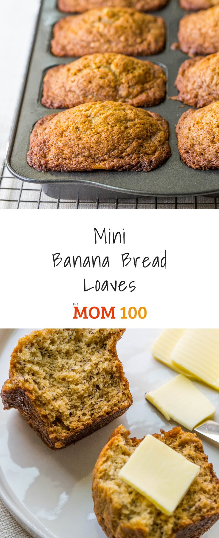 Mini banana bread loaves recipe the mom 100 the mom 100 the cutest mini banana bread loaves cute as a button and perfect for sharing forumfinder Images