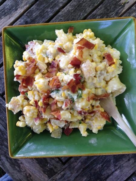 Corn and Potato Salad with Bacon