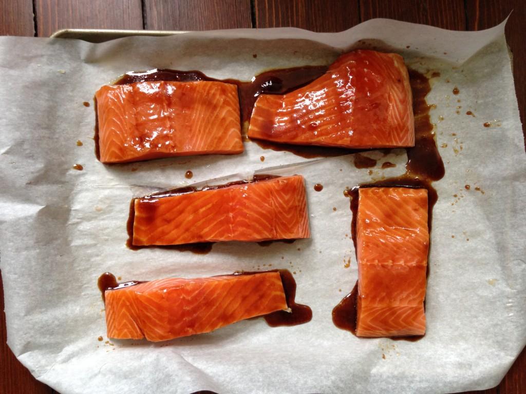 Marinating Asian Salmon