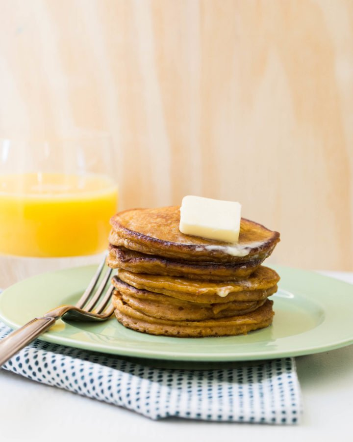 Spiced Pumpkin Pancakes / Sarah Crowder / Katie Workman / themom100.com