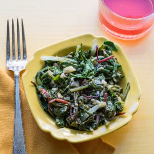 Clean and Spicy Asian Greens / Sarah Crowder / Katie Workman / themom100.com