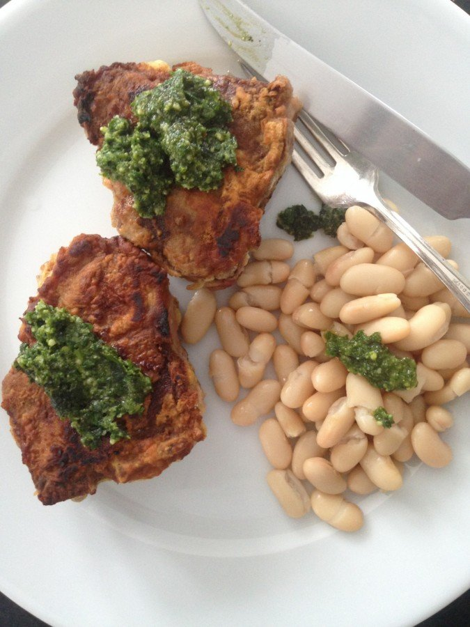 Crusted Loin Lamb Chops with Mint Basil Pesto from Katie Workman ...