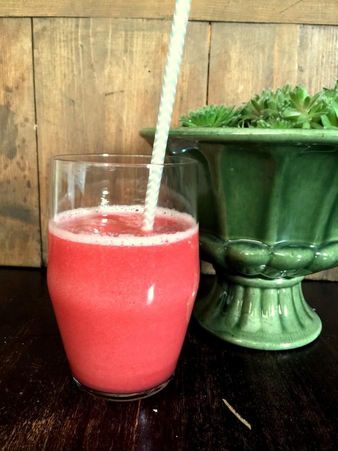 Watermelon Strawberry Smoothie from Katie Workman/ themom100.com