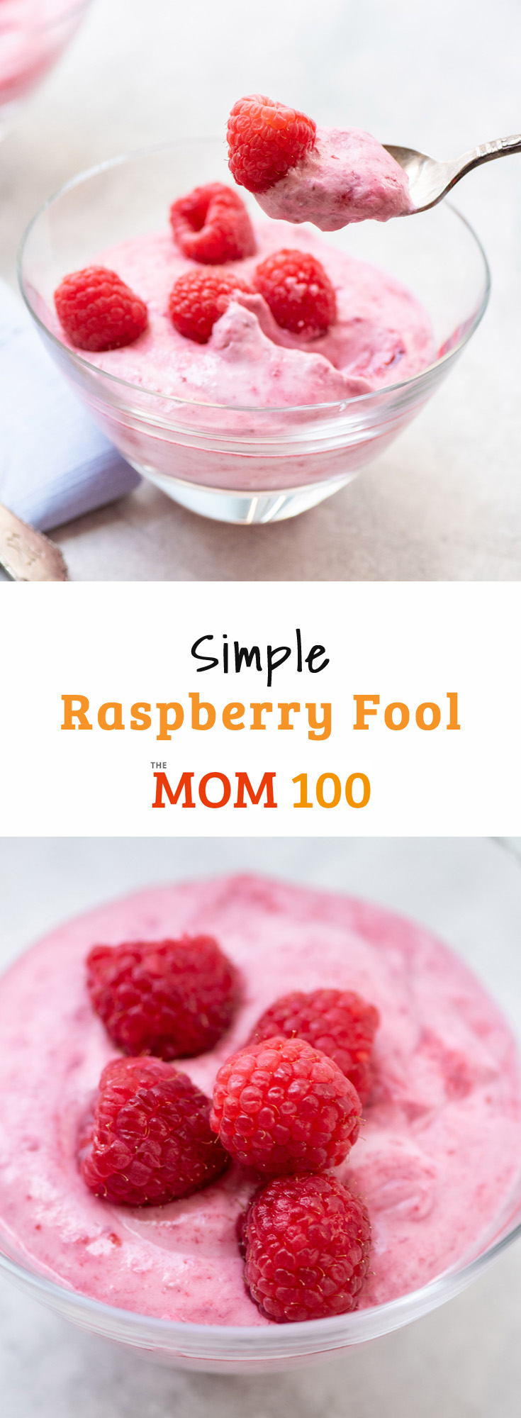 Simple Raspberry Fool: A simple, pretty, 4-ingredient summer dessert that doesn't require turning on the oven - now that's beautiful.