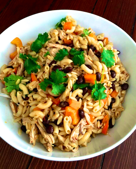 Pasta Salad with Chicken and Chipotle Dressing from Katie Workman / themom100.com