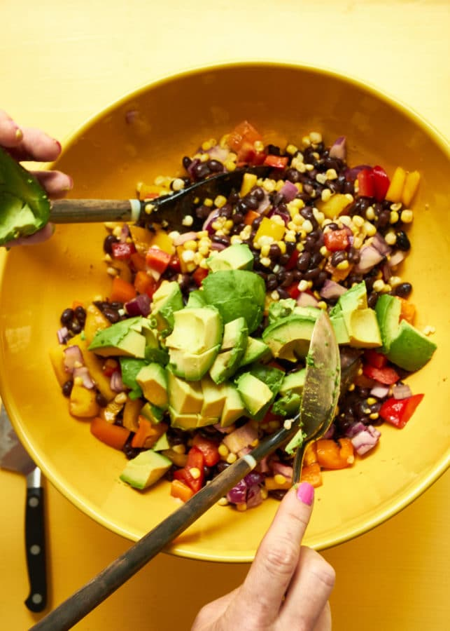Southwest Black Bean and Corn Salad / Mia / Katie Workman / themom100.com