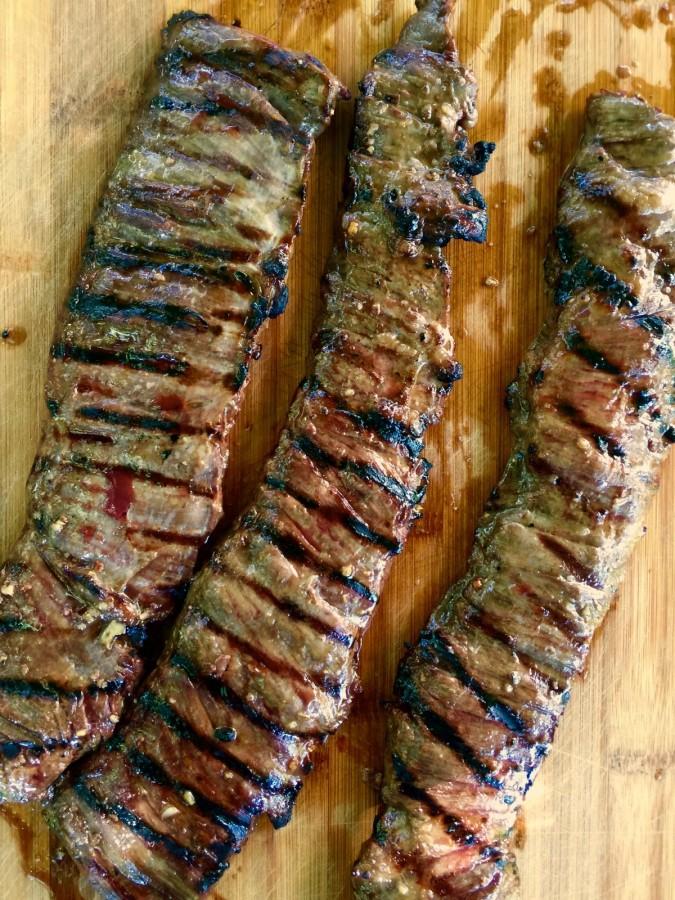 Smoky Sweet Thai Grilled Flank Steak Salad from Katie Workman / themom100.com