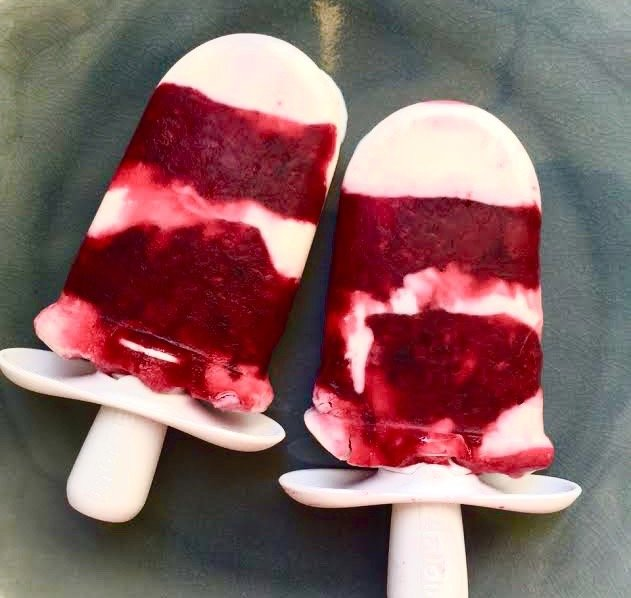 Yogurt-Berry Pops from Katie Workman / themom100.com