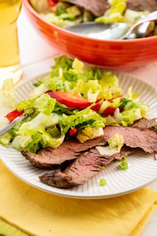 Smoky Sweet Thai Grilled Flank Steak Salad / Photo by Cheyenne Cohen / Katie Workman / themom100.com