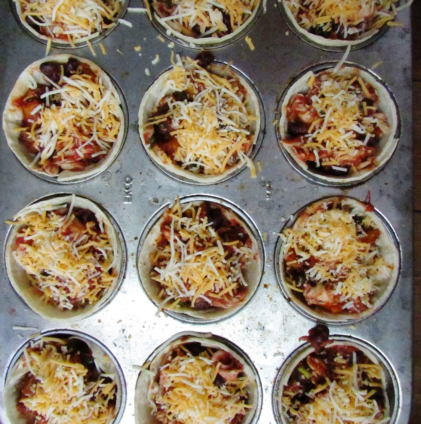 Butternut Squash, Black Bean and Chicken Enchilada Cups from Katie Workman / themom100.com