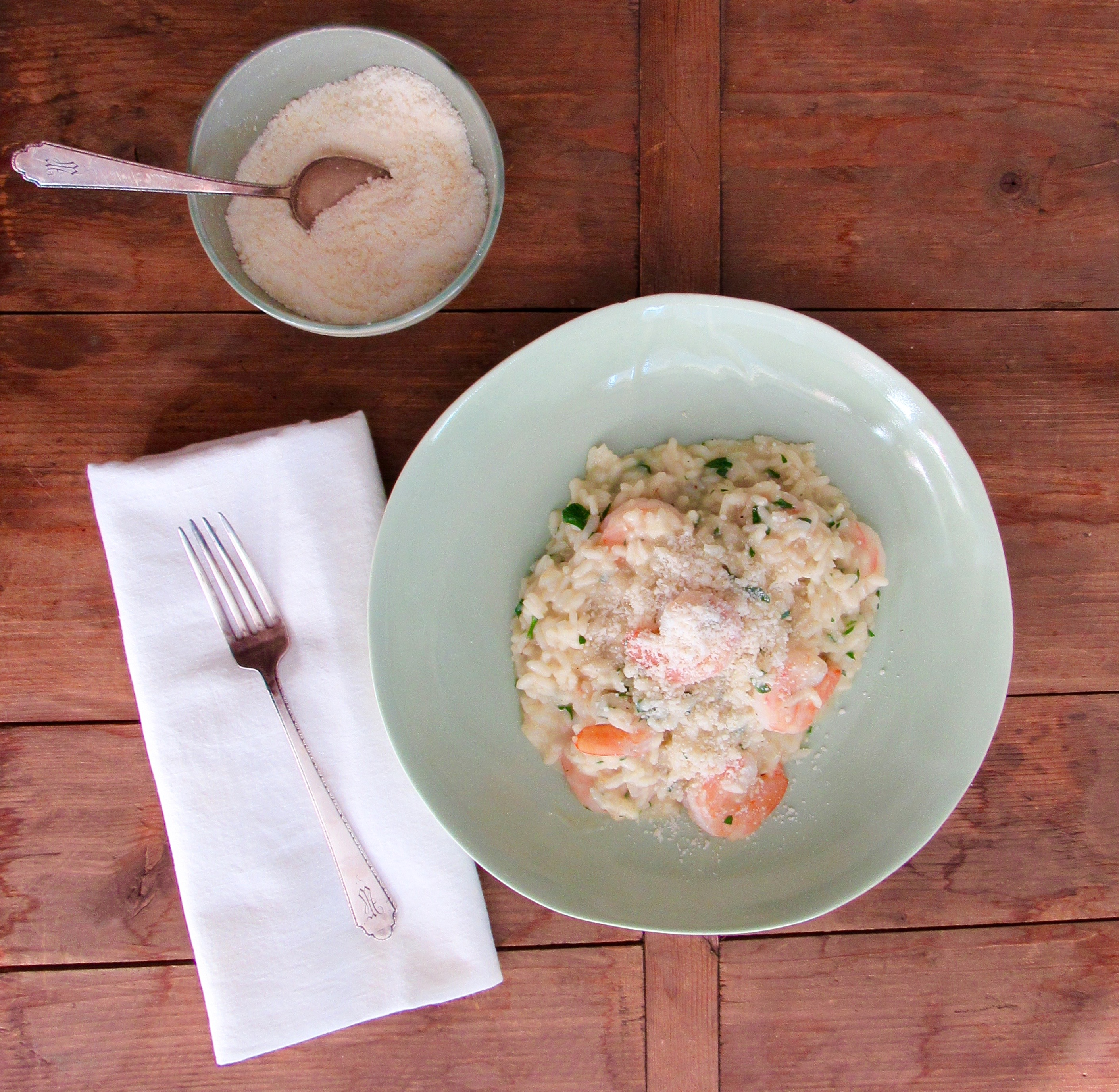 Shrimp Risotto from Katie Workman/themom100.com