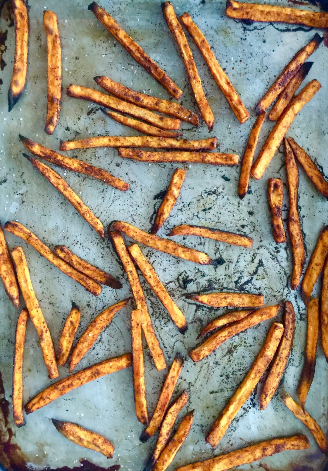 Crispy Baked Sweet Potato Fries from Katie Workman / themom100.com
