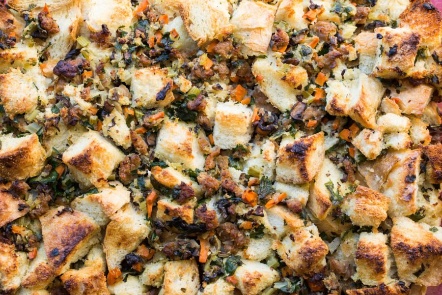 Bread Stuffing with Turkey Sausage