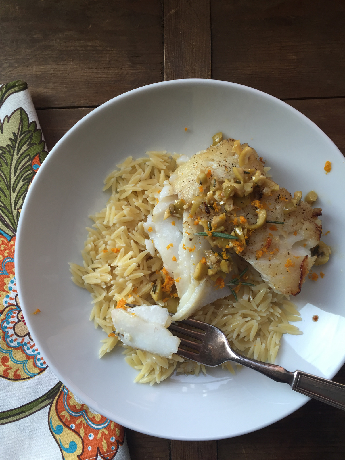Rosemary Orange Cod Fillets from Katie Workman/ themom100.com