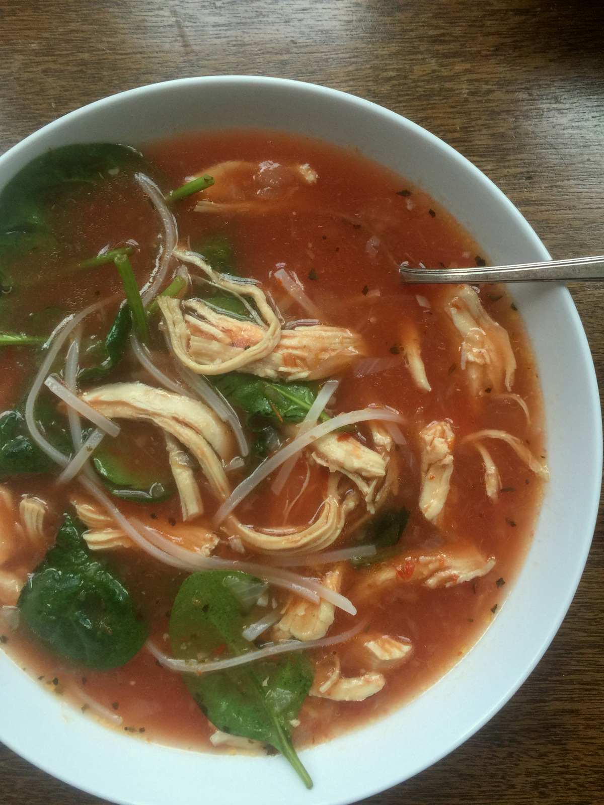 Spicy Thai Chicken Noodle Soup by Katie Workman/ themom100.com