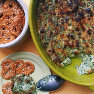 Hot Cheesy Scallion Kale Dip